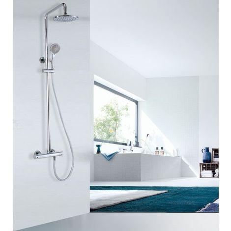 Système de douche thermostatique 4011 Basic avec douchette à main - sélection du pommeau de douche