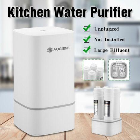 Système de filtre à eau en 4 étapes avec robinet de robinet Tuyau d'eau Purificateur de cuisine à domicile Système de filtres à eau