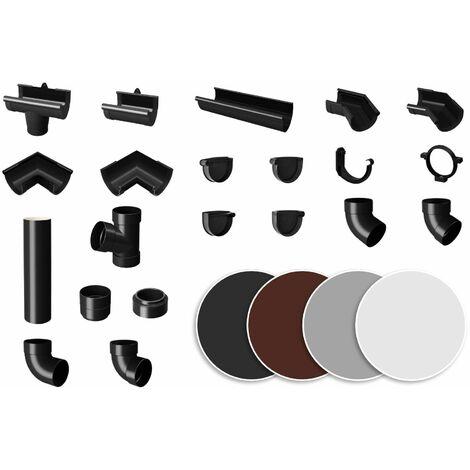 Système de gouttières - PVC plastique 90 mm, sélection des composants - RainWay90