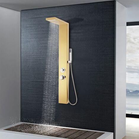 Système de panneau de douche Acier inoxydable 201 Doré
