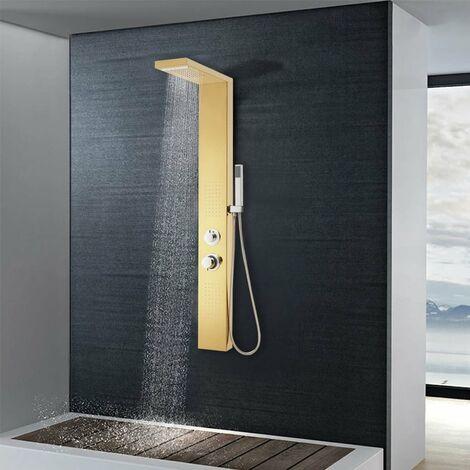 Systeme de panneau de douche Acier inoxydable 201 Dore