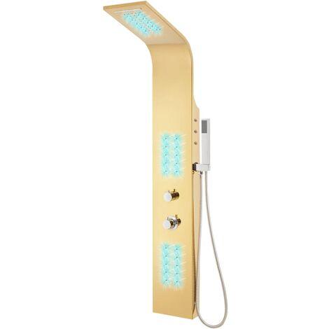 Système de panneau de douche Acier inoxydable 201 Doré Incurvé