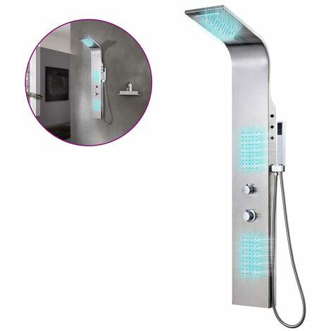 Système de panneau de douche Acier inoxydable incurvé