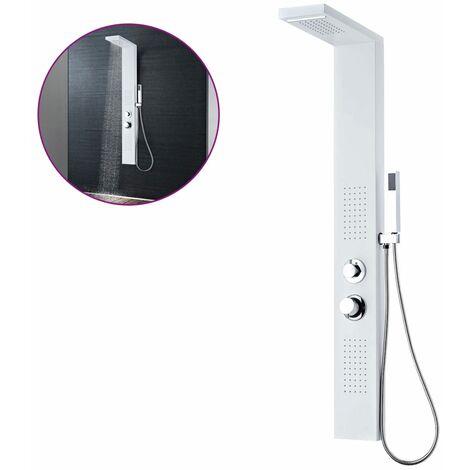 Système de panneau de douche Aluminium Mat Blanc