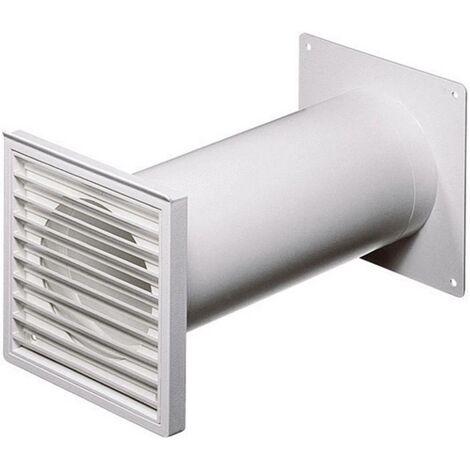 Système de ventilation pour conduites rondes 100 Wallair N37824 (Ø x L) 10 cm x 48 cm plastique blanc