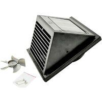 Système de ventilation solaire Fresh Breeze noir W382771