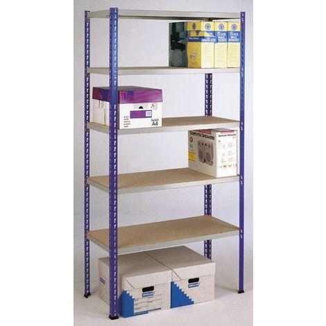 Système d'étagères, Gris, Acier Easi-Rack, 375kg, 900mm, x 1980mm x 450mm