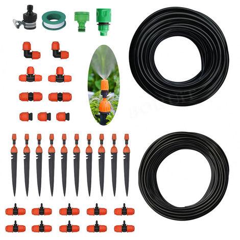 Systeme D'Irrigation 10 Pieces Kit Pulverisateur Et Goutteur Tube De 25 Metres