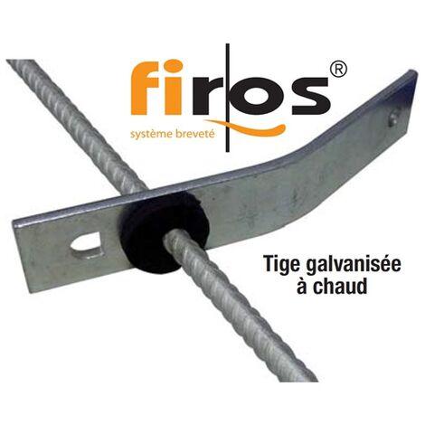 Système FIROS pour suspente de canalisation à la dalle béton (évacuation des eaux) paquet de 20 FIROS