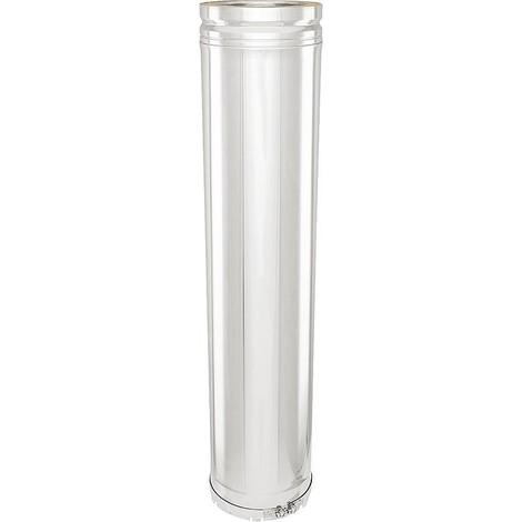 Systeme gaz échappement double paroi Elément tube 160 x 435 mm bande adhésive incluse