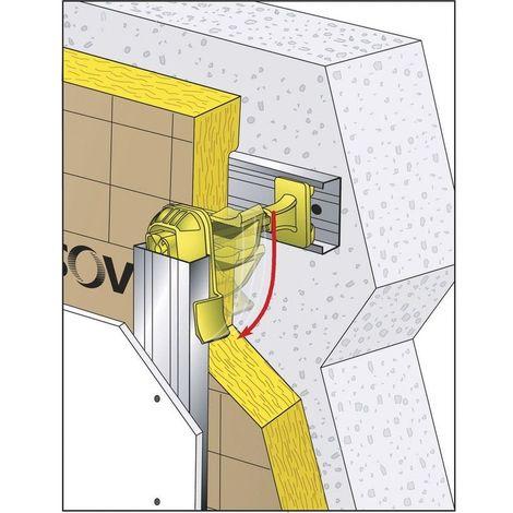 Système ISOVER APPUI OPTIMA 2 120mm, 100-120mm Lot de 50 Unités