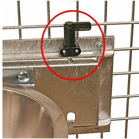 Système pivotant pour anneau support gamelle Désignation : OPTION Loquet de blocage MORIN 290070