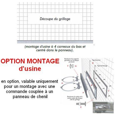 Système pivotant pour anneau support gamelle Désignation : OPTION Montage du système en usine sur panneau de chenil MORIN MT290065