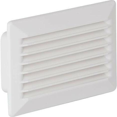 Système tube plat conduit de ventilation 125 grille extérieure avec clapet