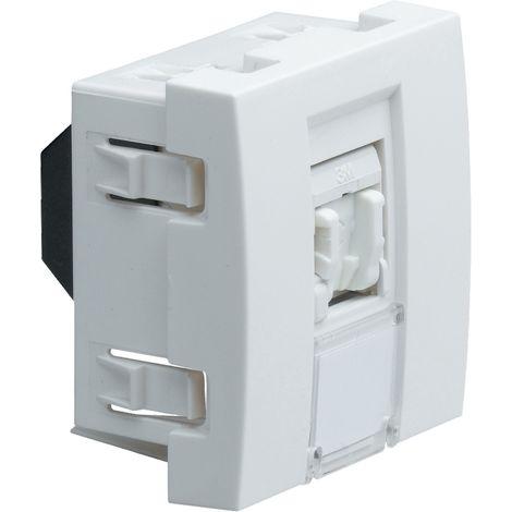 Systo prise rj45 catégorie 5e ftp 2 modules blanc