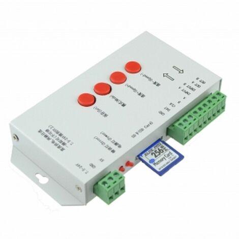 T-1000S controlador DMX512 programable para led RGB con tarjeta de memoria WS2811 WS2801 LPD8806 LP