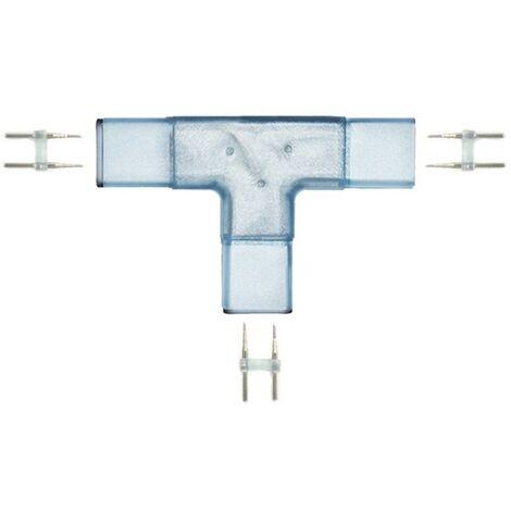 T 8mm conector para cinta de LED 220V 5050 o 2835 25 o 50 metros