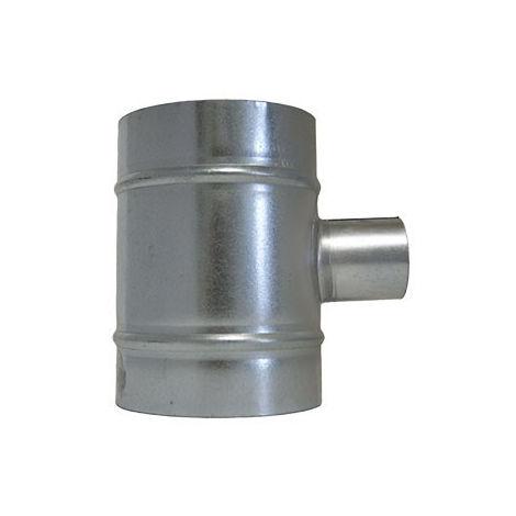 T de dérivation 160mm-50mm-160mm - conduit de ventilation