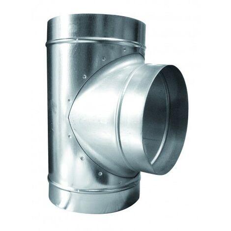 T de dérivation 3 X 250mn ,conduit de ventilation
