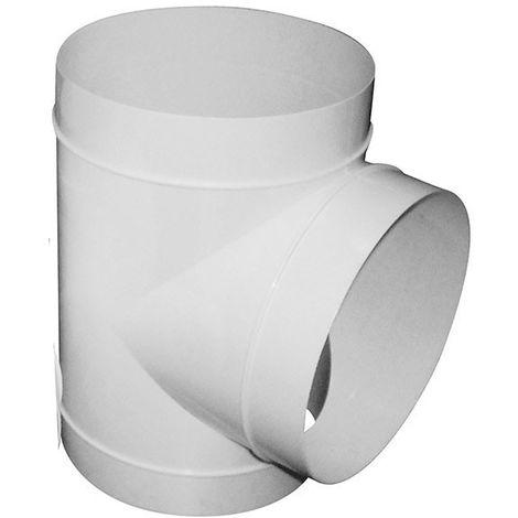 T de dérivation en PVC 3 x 125 mm- gaine de ventilation