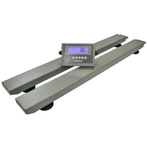 T-Mech Balance de Pesage Industrielle pour Palettes, Barres Peseuses de 120cm x 12cm x 6cm