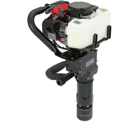 T-Mech - Clavador de Postes Motor 900W 2 Tiempos para Vallas con Martillo Neumático y Cincel