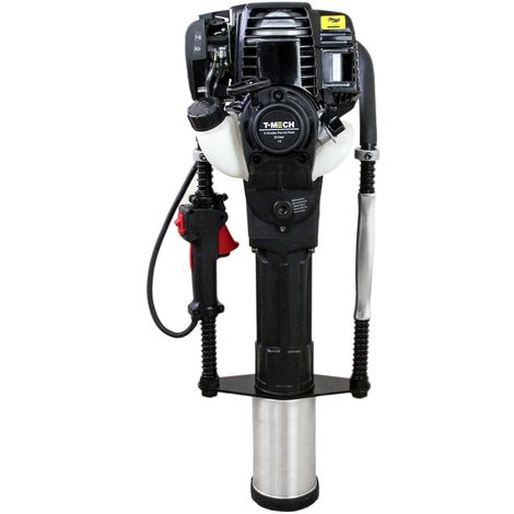 T-Mech - Clavador de Postes Motor 900W 4 tiempos para Vallas con Maleta y Kit de Herramientas