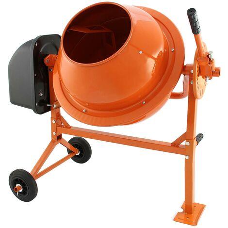 T-Mech - Hormigonera Eléctrica 70 Litros 30 rpm para Mezclar Hormigón, Argamasa y Cemento