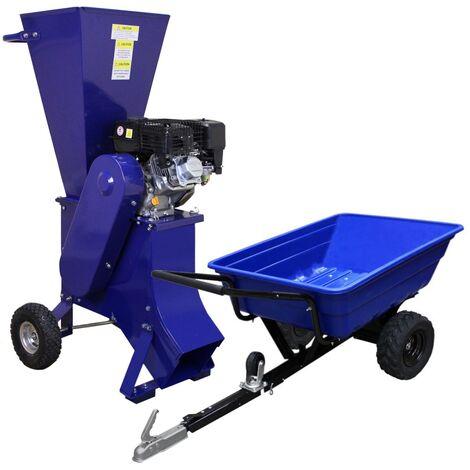 T-Mech Remolque con Neumáticos Todoterreno para Jardinería y Decoración de Exterior con Capacidad para 295 Kgs