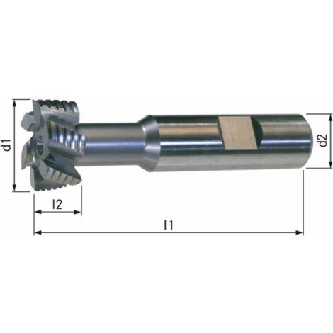 T-Nutenfräser HSSE5 DIN 851 NF Größe 14-25x11 mm