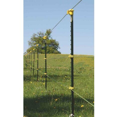 T-Pfosten Band-Starterset für ca. 150 m Zaun 1,55 m hoch, gelbe Isolatoren