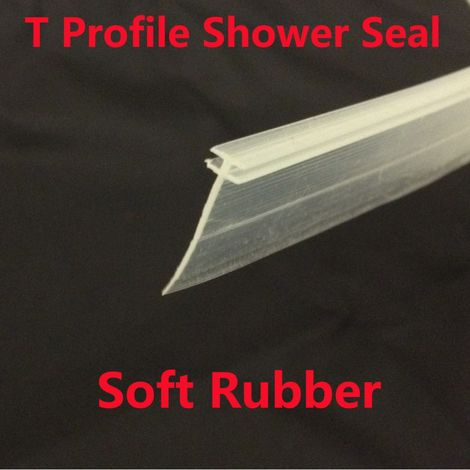 T Profile Shower Seal For 2mm Gap 18mm Soft Bottom Fin