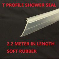 T Profile Shower Seal For 2mm Gap 18mm Soft Bottom Fin