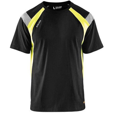 T-shirt - 9933 Noir/Jaune fluo - Blaklader