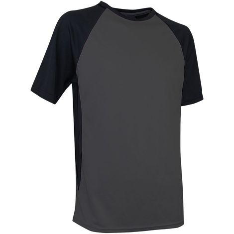 T-shirt bicolore respirant LMA Pilote Gris / Noir