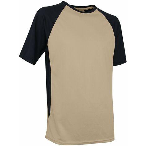 T-shirt de travail bicolore LMA Masse Beige / Noir