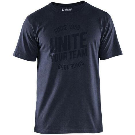 T-shirt de travail Blaklader Unite Edition Limitée Marine Foncé