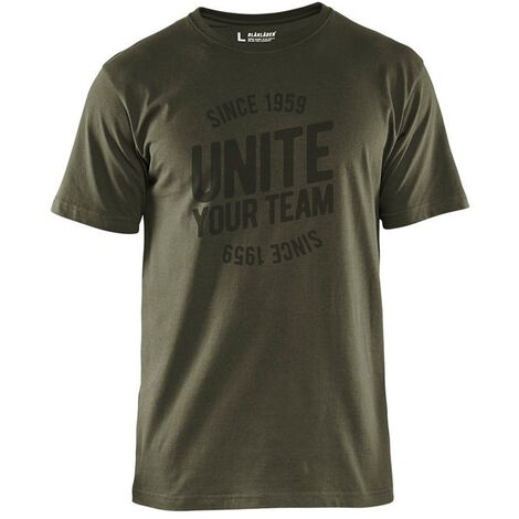T-shirt de travail Blaklader Unite Edition Limitée Vert Foncé