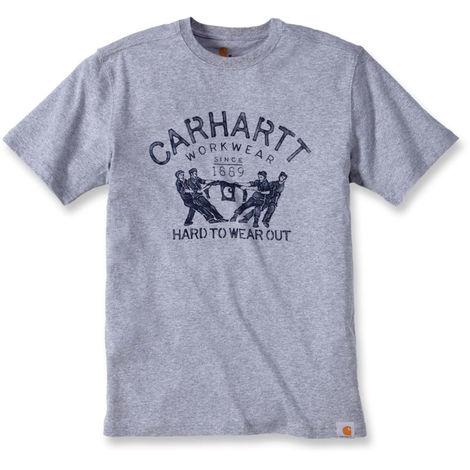 T-shirt de travail Carhartt manches courtes 100% coton Gris