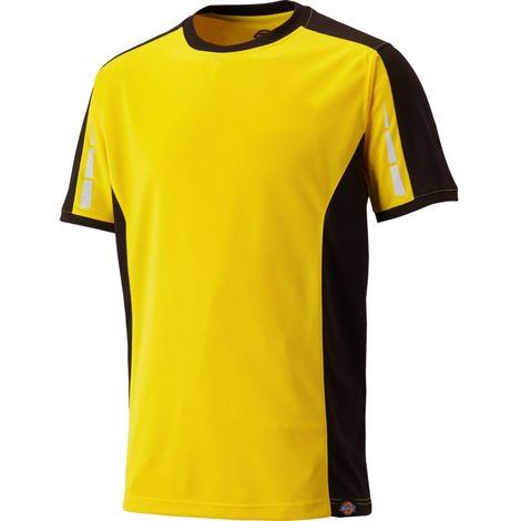 T-shirt de travail Pro Jaune / Noir - DICKIES - DP1002