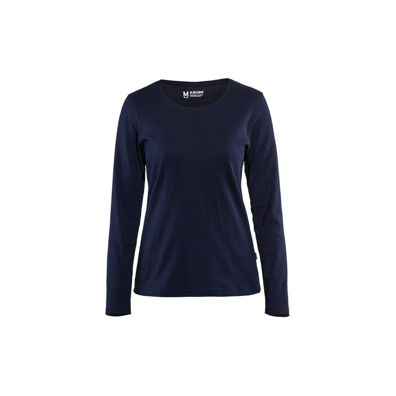 T-shirt manches longues femme - 8900 Marine taille: M - couleur: Bleu marine - Blaklader