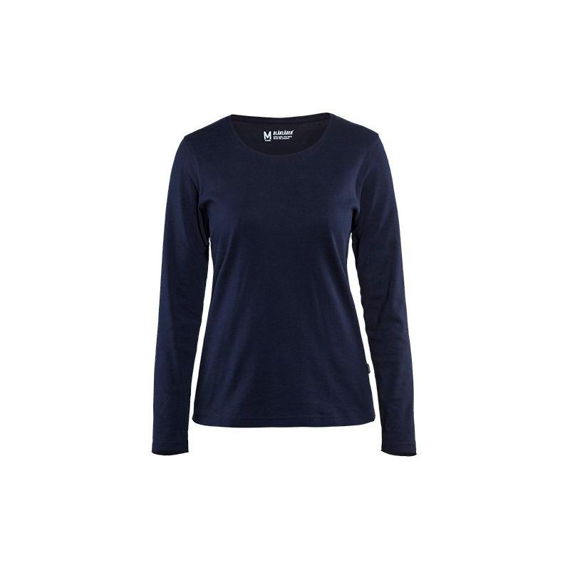 T-shirt manches longues femme - 8900 Marine taille: XXXL - couleur: Bleu marine - Blaklader