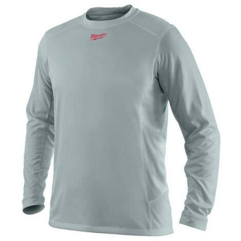 T-shirt manches longues MILWAUKEE Workskin - Gris - Taille XL - WWLSG - 4933464196 - Noir