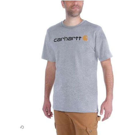 T-Shirt MC Core Logo 103361CARHARTT 034 Heather grey - Taille XL - S1103361034XL