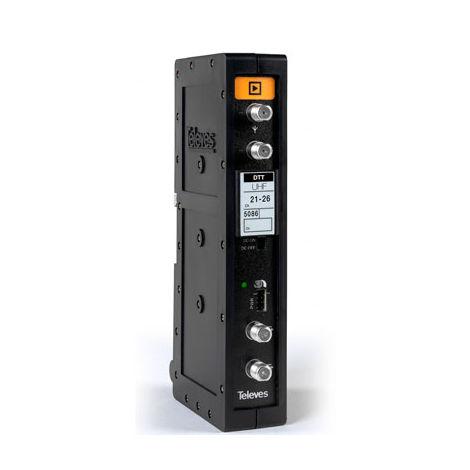 T.12 Amplificateur TNT monocanal/multicanal UHF Televes 5086 Canaux 46 à 47
