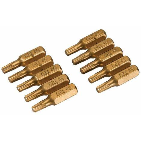 T20 Gold Screwdriver Bits 10pk T20