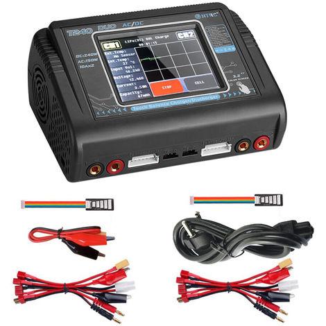 T240 Charge Outil Dual Channel Ecran Tactile Balance Des Dechargeurs Pour Les Modeles Rc Jouets Et Batterie