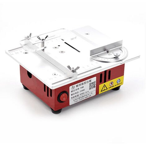 T30 Mini Table-Scie Electrique De Bureau Scies Petits Outils De Coupe Bricolage Menagers Machine A Bois Avec 0-14Mm Tour Sawblade Hauteur De Levage