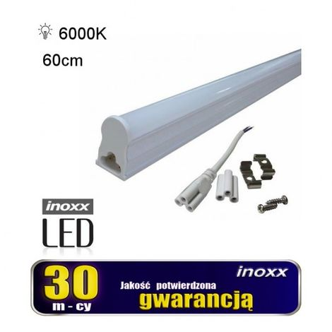T5 fluorescente del LED 8W 60 centimetri lampada 6000k superficie Fredda montato integrato con l'alloggiamento