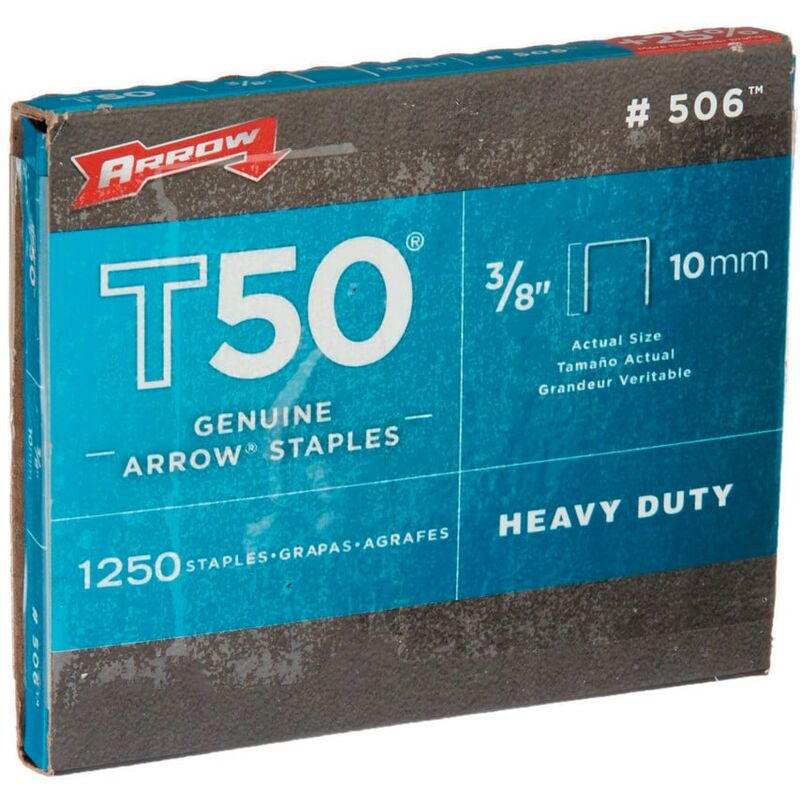 Image of Arrow Fastening 506 Staples 3/8 - 10MM - (Box of 5000)